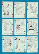 Collectable Vintage playing cards Tee-up 52 golf cartoons